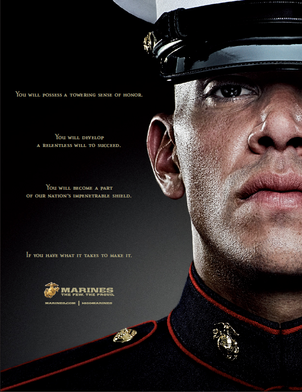 USMC Enlisted Print Campaign - Jay Blizzard: Art Director ...