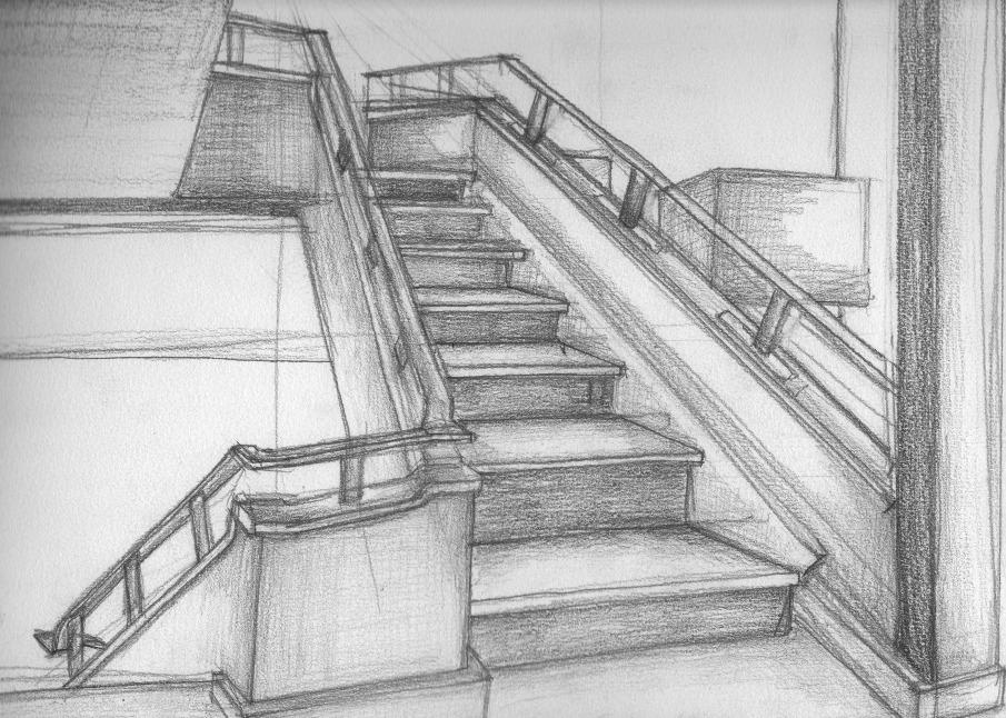 Disegni a matita - Marie-Laure Pacquet Architecture-8451